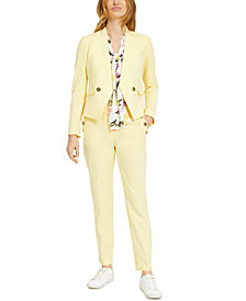 Bar III Collarless Jacket, Bow-Neck Blouse & Pants, Created for Macy's