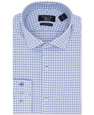 ORIGINAL PENGUIN Mens Slim Fit Performance Point Collar Check Dress Shirt