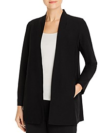 Long Shawl Collar Jacket, Regular & Petite Sizes