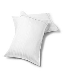 Manhattan 1000 Thread Count Cotton Rich Wrinkle Resistant, 2 Standard Stripe Pillowcases