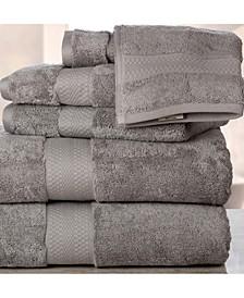 Double Stitched Hem Plush Towel Set - 6 Piece
