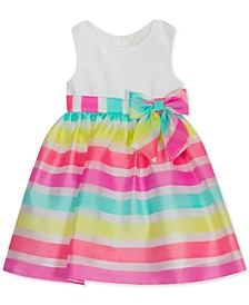 Little Girls Striped Organza Dress