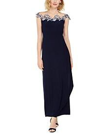Floral Appliqué Gown