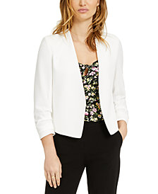 Bar III Ruched-Sleeve Jacket, Created for Macy's