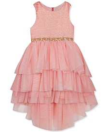 Little Girls Tiered High-Low Dress