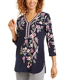 Printed Studded Tunic, Created for Macy's