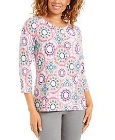 Plus Size Jacquard Top, Created for Macy's
