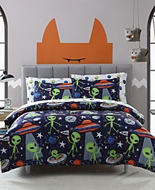 MHF Home Kids Allan the Peaceful Alien Twin Comforter Set