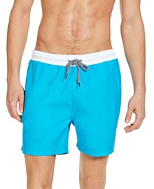 "INC Men's Liam Solid 5"" Swim Trunks, Created for Macy's"