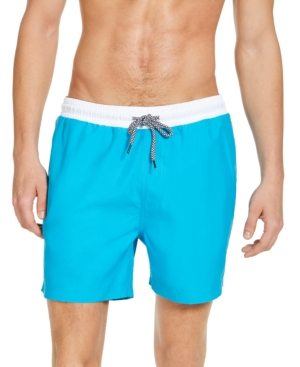 Vintage Men's Swimsuits – 1930s to 1970s History Inc Mens Liam Solid 5 Swim Trunks Created for Macys $14.99 AT vintagedancer.com