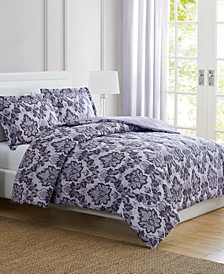 Tina Purple Twin 3-Pc. Comforter Set