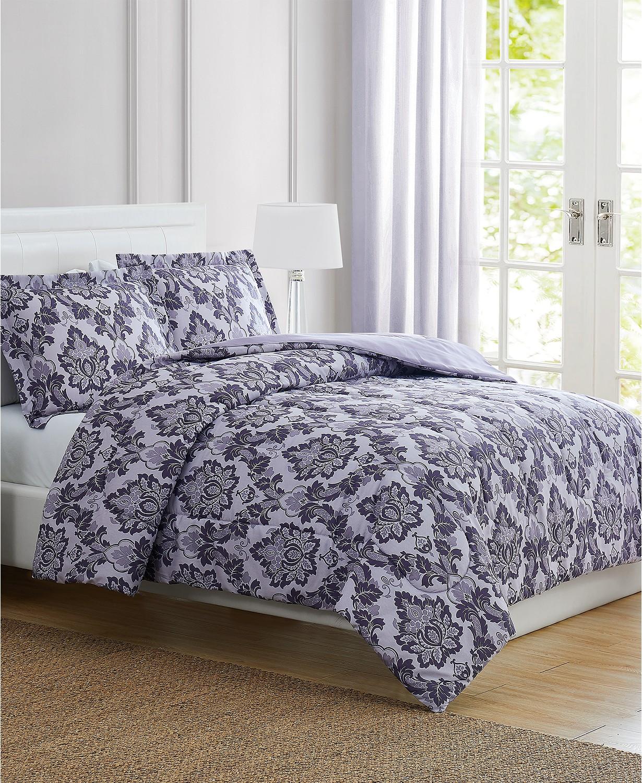 Tina Purple Twin 3-Pc. Comforter Set