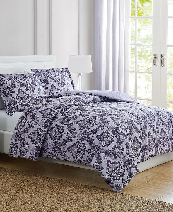 Pem America CLOSEOUT! Tina Purple Twin 3-Pc. Comforter Set