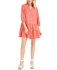 Ruffled Button-Down Dress