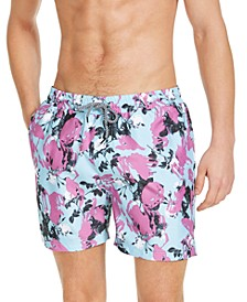 "INC Men's Jaxon Floral 5"" Swim Trunks, Created for Macy's"