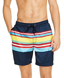 "Men's Skate Stripe 7"" Swim Trunks, Created for Macy's"