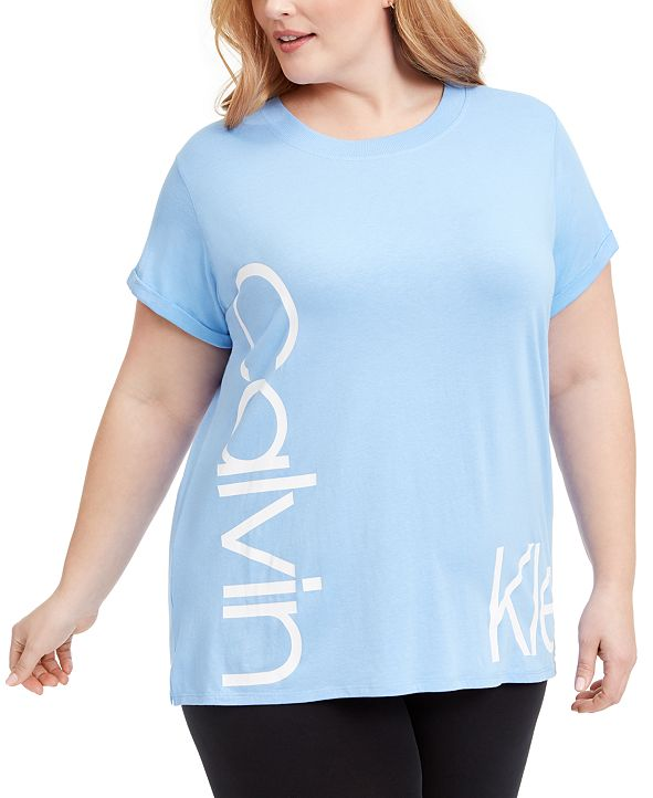 Calvin Klein Plus Size Relaxed-Fit Logo T-Shirt