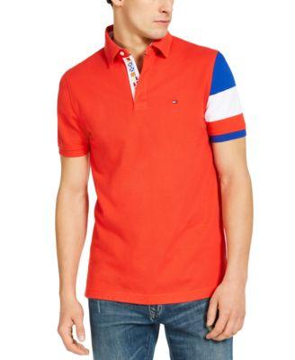 Men's Custom-Fit Chance Colorblock Polo Shirt