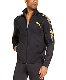 Men's Contrast-Print Track Jacket