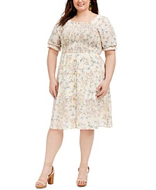 Trendy Plus Size Koshibo Smocked Dress