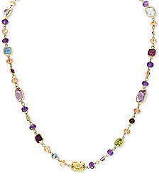 EFFY® Multi-Gemstone (39-1/2 ct. t.w.) Station Necklace in 14k Gold
