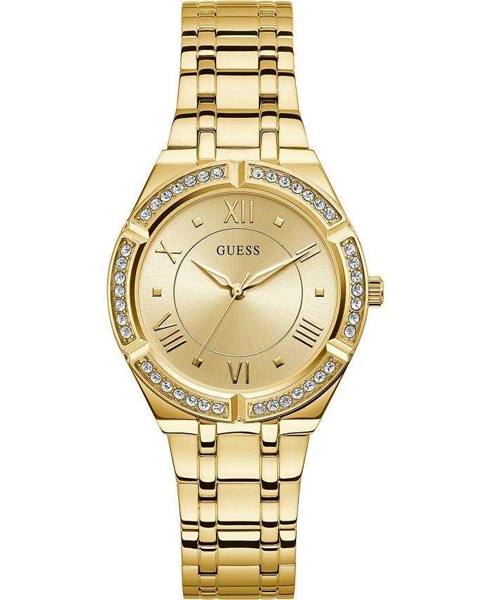 GUESS - Women's Gold-Tone Stainless Steel Bracelet Watch 36mm