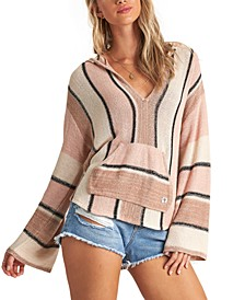 Juniors' Baja Beach Striped Hoodie