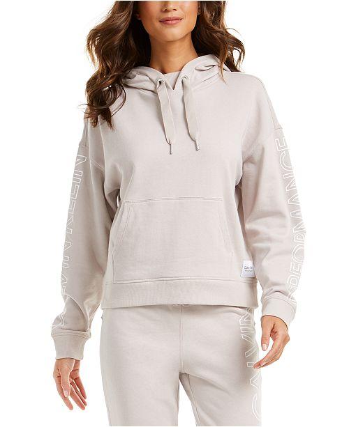 Calvin Klein Logo-Sleeve Hoodie