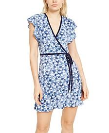 Floral Faux-Wrap Dress