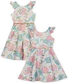 Toddler, Little & Big Girls Brocade Dress