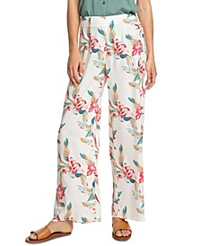 Juniors' Beside Me Floral-Print Soft Pants