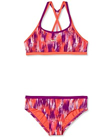Big Girls 2-Pc. Swim Blur T-Crossback Bikini Set