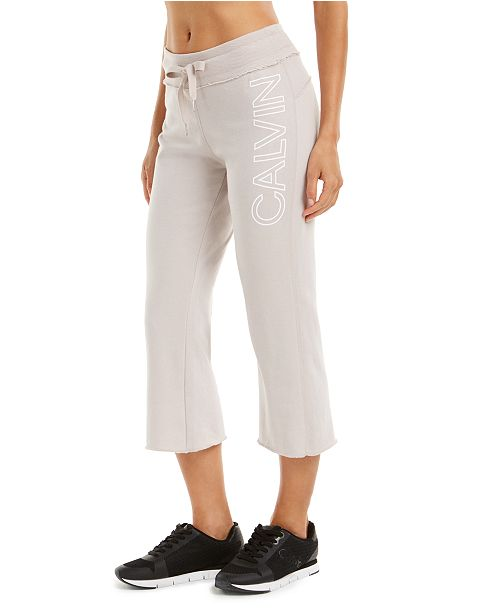 Calvin Klein Flared Cropped Sweatpants