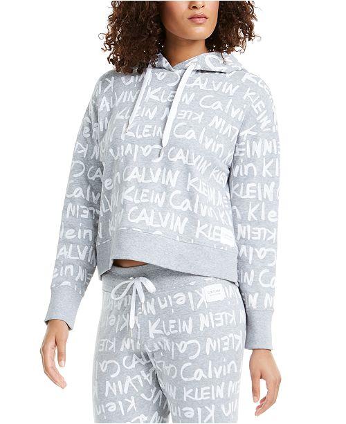 Calvin Klein Brushed-Logo Hoodie