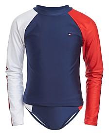 Girl Two-Piece Rashguard Swimsuit
