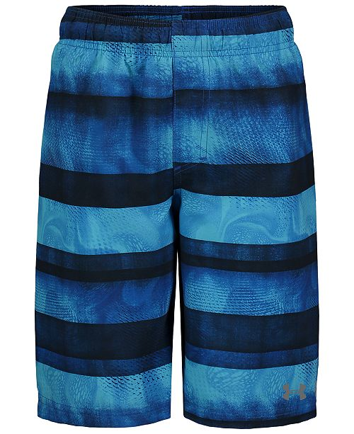 Under Armour Big Boys Striped Swim Trunks