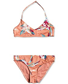 2-Pc. Big Girls Made for Roxy Floral Swimsuit Set