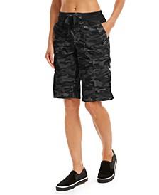 Camo Convertible Cargo Bermuda Shorts