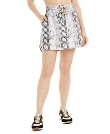 Snake-Print Skirt, Created for Macy's