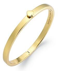 Bracelet, 12k Gold-Plated Spade Hinged Thin Bangle Bracelet
