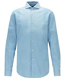 BOSS Men's Jemerson Open Blue Shirt