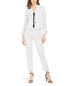 Plaid Blazer & Dress Pants