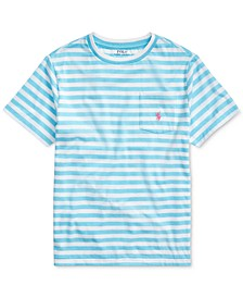 Big Boys Striped Cotton-Blend T-Shirt