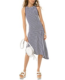 Asymmetrical Striped Dress, Regular & Petite Sizes