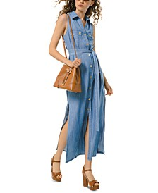 Denim Shirtdress, Regular & Petite Sizes