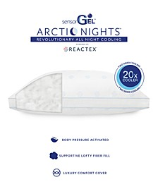Arctic Nights 20x Cooler Supportive Gusseted Fiber Bed Pillows Powered by REACTEX