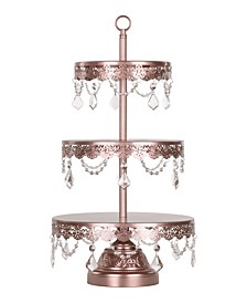 Sophia 3-Tier Crystal-Draped Cupcake Stand