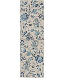 "Peace PEA02 Ivory 2'3"" x 7'3"" Runner Rug"