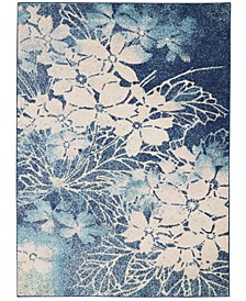 """Peace PEA08 Navy, Pink 5'3"""" x 7'3"""" Area Rug"""