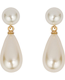 Grace Kelly Collection 18k Gold Plated Parliament Pierced Earring